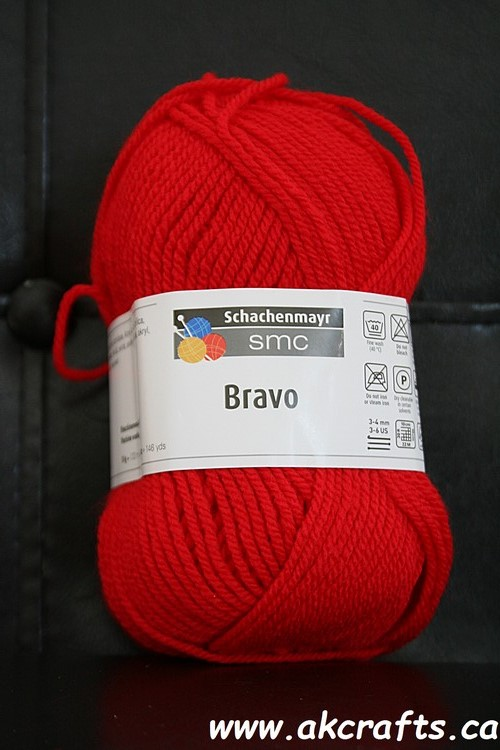 Schachenmayr SMC - Bravo - Acrylic Yarn - Red