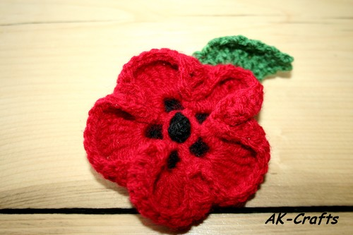 Knitting Pattern For Poppy Flowers : How to crochet a Poppy Flower   The Art of Craft