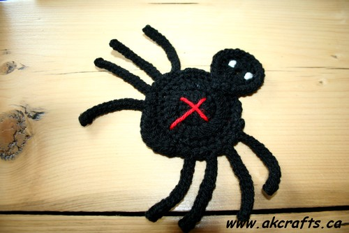 How to crochet a Spider Applique`