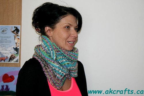Knitted Infinity Cowl