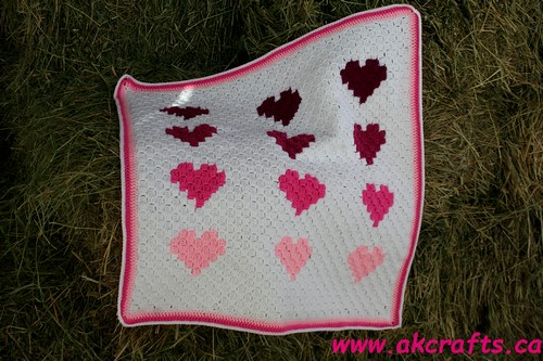 Be my little Valentine – Corner to Corner Blanket